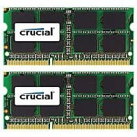 Staples Deal: Crucial Technology CT2K8G3S160BM DDR3 (204-Pin SO-DIMM) Laptop Memory, 16GB $89.99 at Staples.com.  Free shipping.