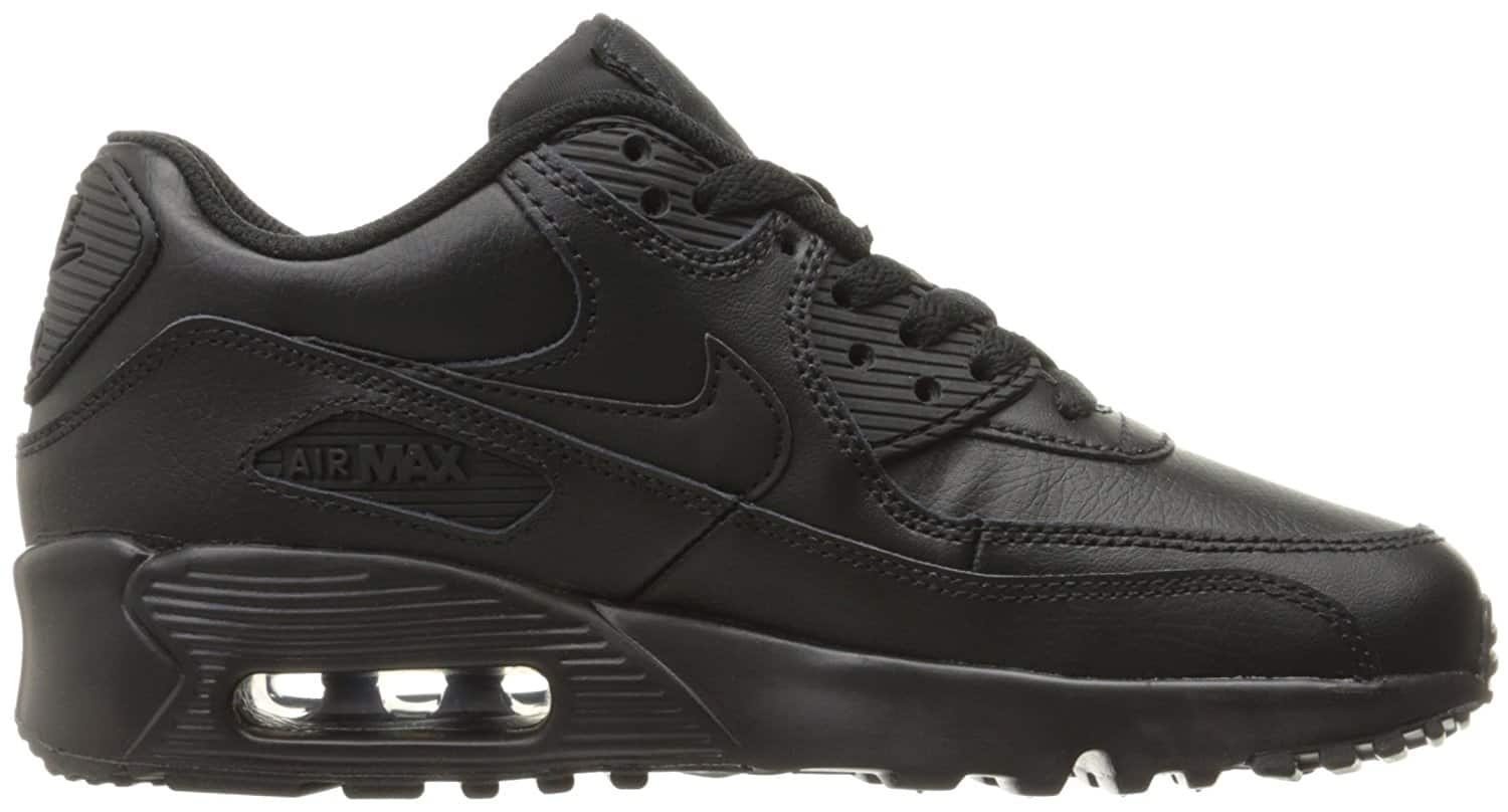 NIKE Kids' Air Max 90 Leather Running Shoes, Size 6-6.5 only $39.99!!!