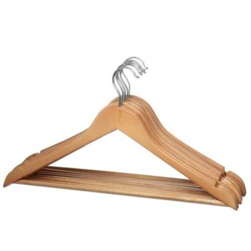 (24) Natural wood Pack Solid Wood Clothes Hangers, Coat Hanger Wooden Hangers $14.99