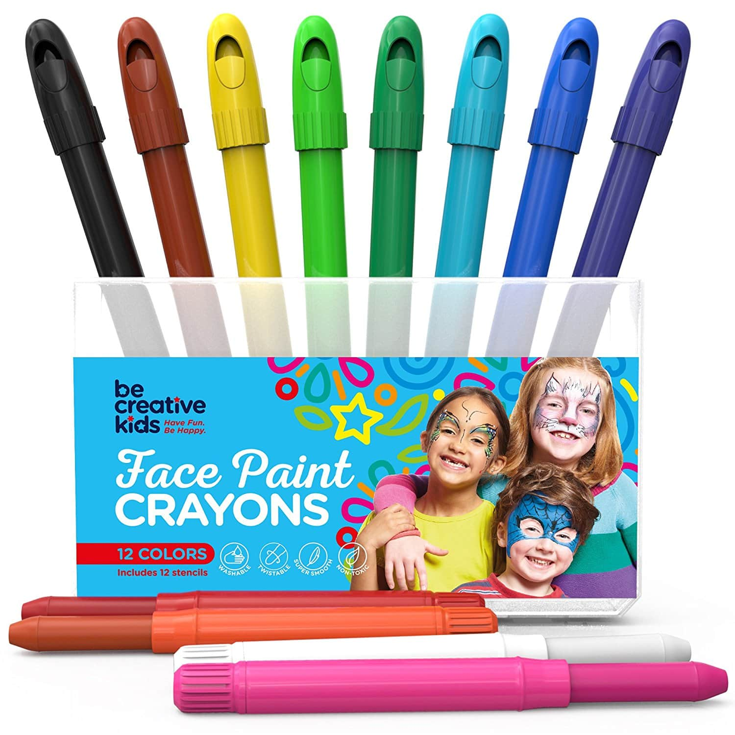 Face Paint Kit for Kids with 12 Non-Toxic Color Sticks $5.10 + Free Shipping at Amazon
