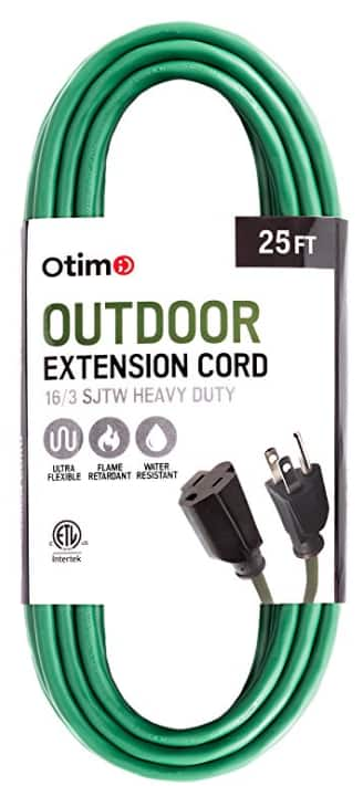 Otimo 25 ft 16/3 Outdoor Heavy Duty Extension Cord - 3 Prong Extension Cord, Green [Green, 25 Feet] $14.99