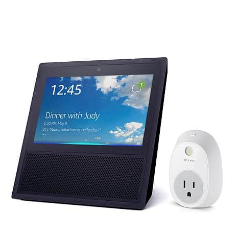 Amazon Echo Show with Touchscreen and TP Link Smart Plug Bundle $179.95
