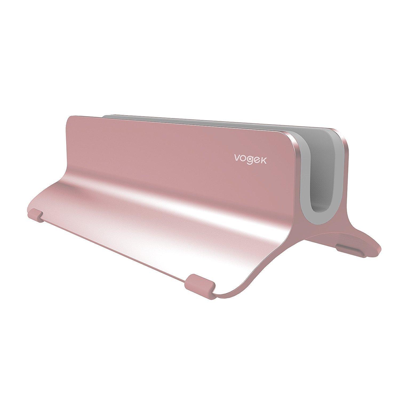 Vogek Vertical Laptop Stand (Rose Golden) $17.39
