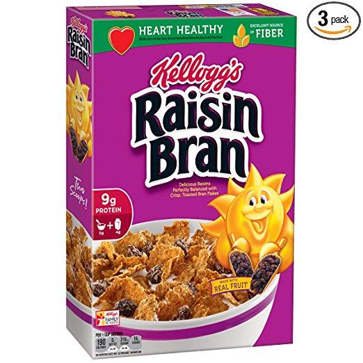 3-Pack of 18.7oz Kellogg's Raisin Bran Cereal for $5.41 w/S&S