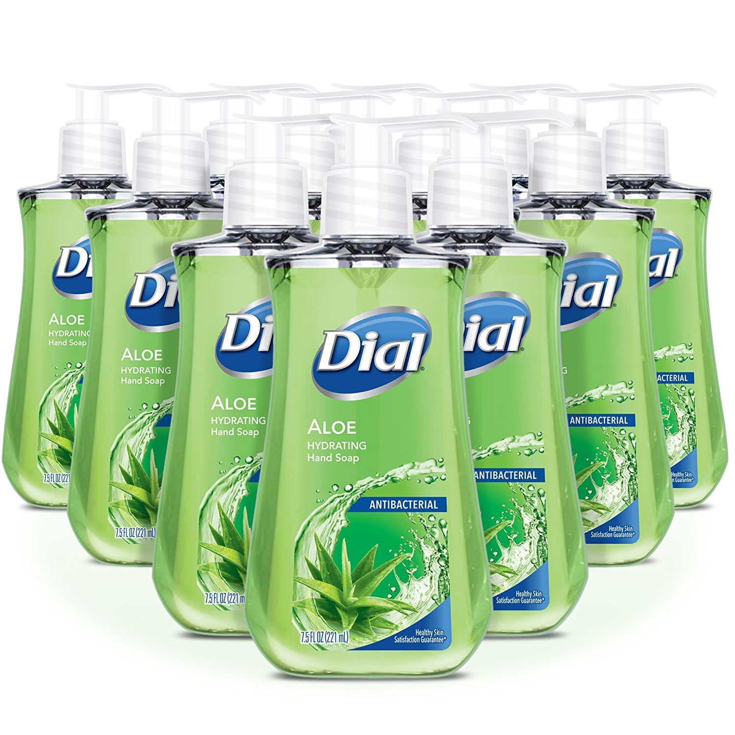 Pack of 12 - Dial Antibacterial Liquid Hand Soap, Aloe, 7.5 Fluid Ounces $11.29 w/ 5% S&S or $10.10 w/ 15% S&S