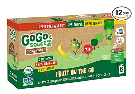 72 pouches - Variety Pack (Apple Apple/Apple Banana/Apple Strawberry) $8.62