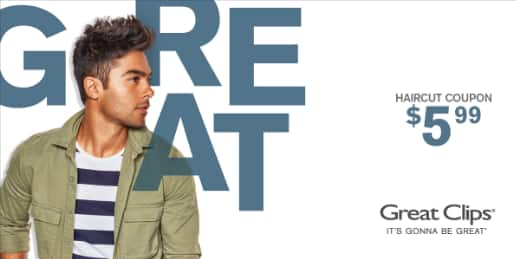 greatclips haircut at dfw area $5.99 exp 9/26