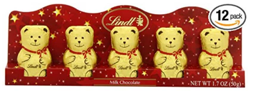 Lindt Holiday Milk Chocolate Mini Gold Bear, Great for Holiday Gifting, 1.7 Ounce (Pack of 12) $9.3