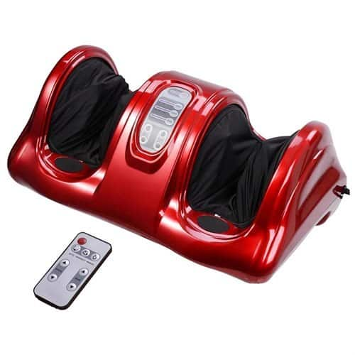 Kneading and rolling foot massager w/ remote - red $52.79