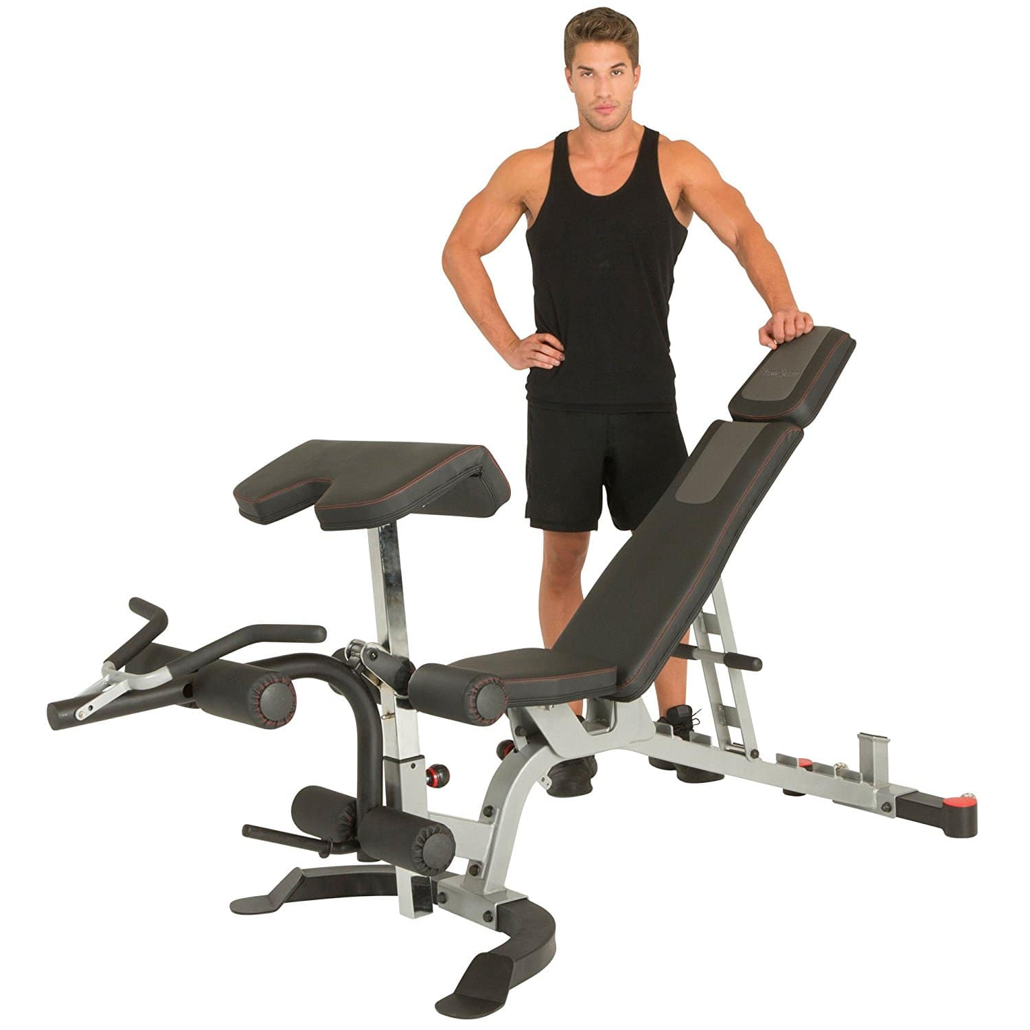 Fitness Reality X-Class 1500 lb Light Commercial Utility Weight Bench with Preacher Curl and Leg Developer Attachment $337.49