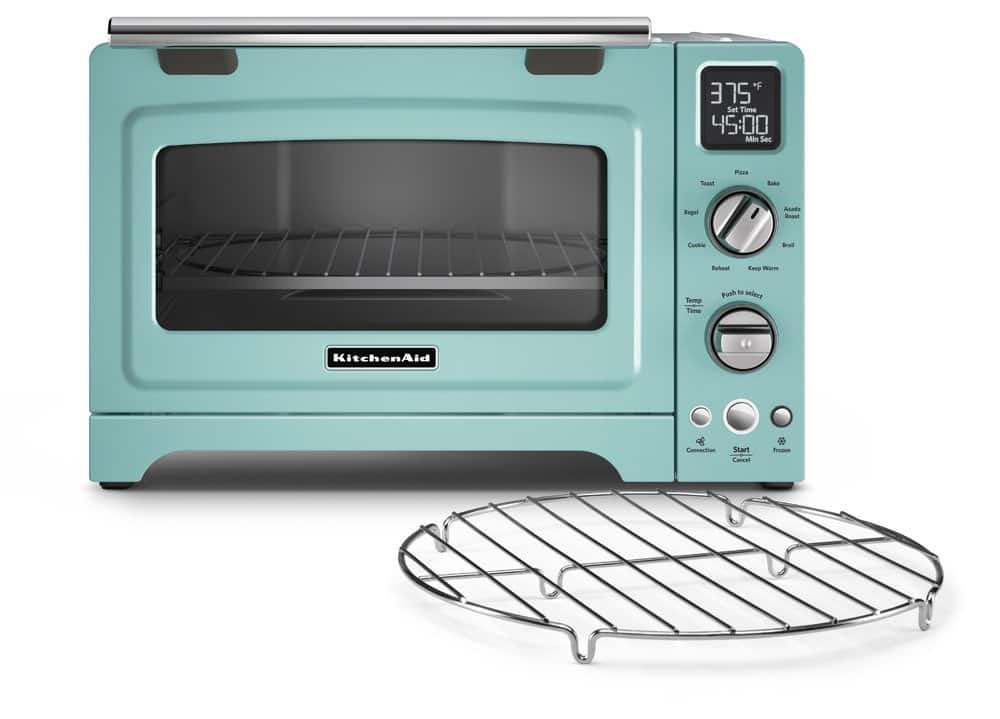 KitchenAid KCO275AQ Convection 1800-watt Digital Countertop Oven, 12-Inch, Aqua Sky - PRIME $189.99