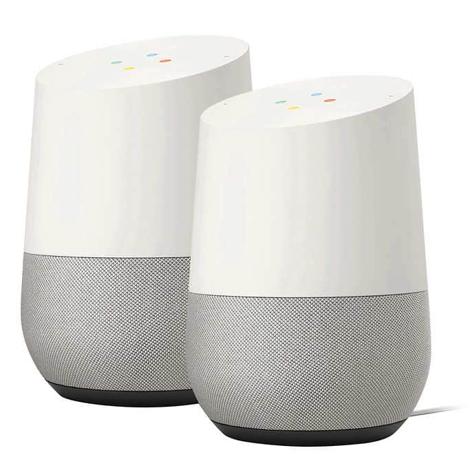 Google Home 2-pack Voice-Activated Speakers $149