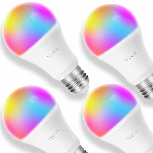 Smart WiFi Light LED Bulbs - Work with Alexa, Google Home, 4 Pack  $26.99