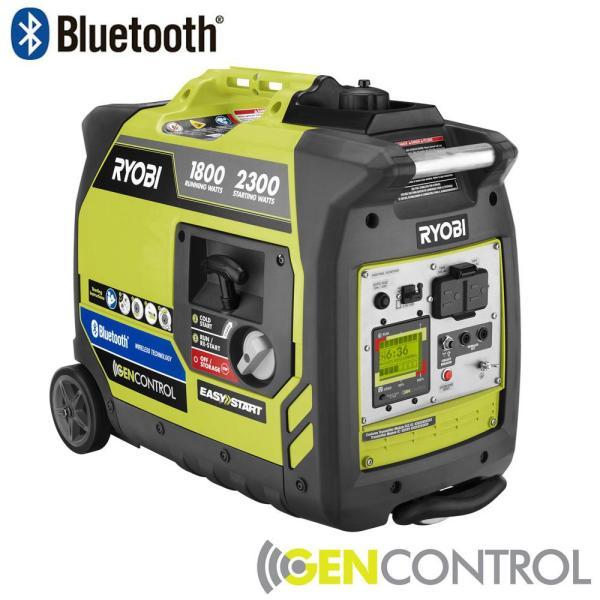 Ryobi Bluetooth 2,300w Super Quiet Gasoline Digital Inverter Generator - B&M YMMV $399