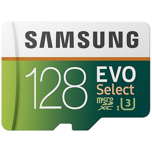 Samsung 128GB 100MB/s (U3) MicroSD EVO Select Memory Card with Adapter (MB-ME128GA/AM) $39.99