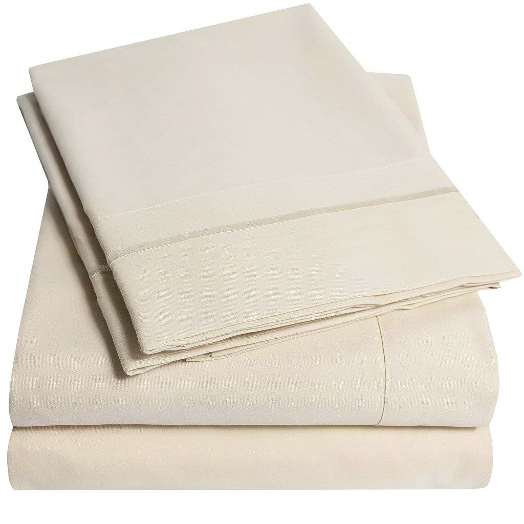 6 Piece Brushed Bed Sheet set - Super Soft - California King $18.99