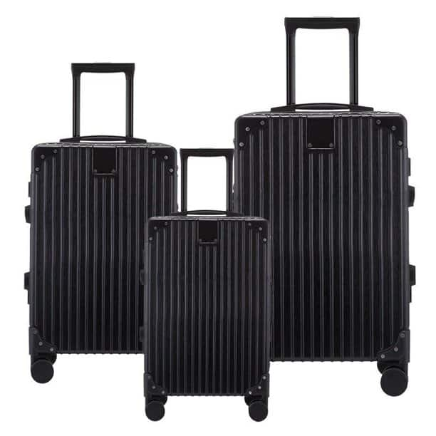 "3-Piece Hardside Spinner Luggage Set with Lock (20"" 24"" 28"")​ $66.17"
