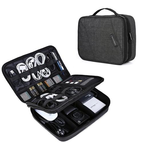 Bagsmart 10 8 Multi Pouch Padded Electronics Accessory Organizer Black