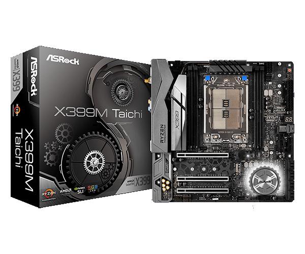 ASRock X399M TAICHI sTR4 AMD X399 SATA 6Gb/s USB 3.1 Micro ATX AMD Motherboard $271.99