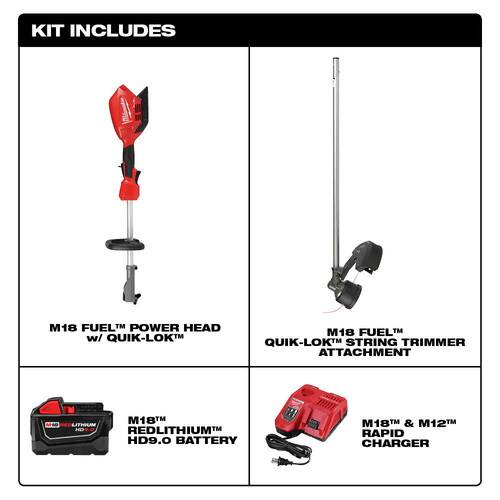 Milwaukee M18 FUEL String Trimmer Kit 2825-81ST international tool $134.89