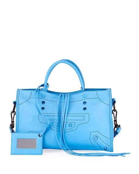Balenciaga Blackout City Small Shoulder Bag $1225