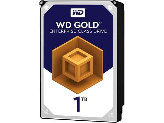 WD Gold 1TB Enterprise Class Hard Disk Drive - 7200 RPM Class SATA 6Gb/s 128MB Cache 3.5 Inch - WD1005FBYZ $74.99
