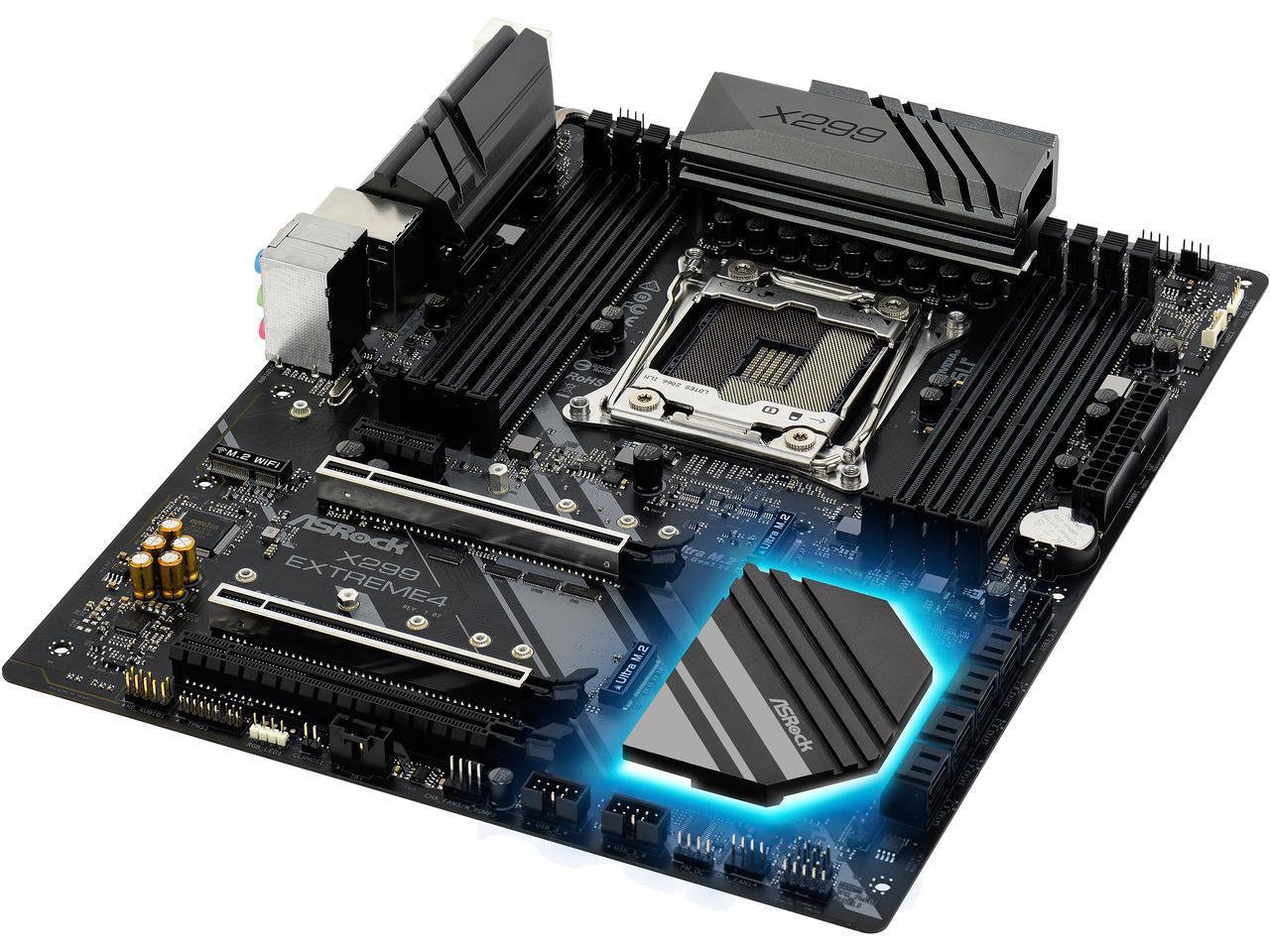 ASRock X299 EXTREME4 LGA 2066 Intel X299 SATA 6Gb/s USB 3.1 ATX Intel Motherboard $149.99 after $20.00 rebate