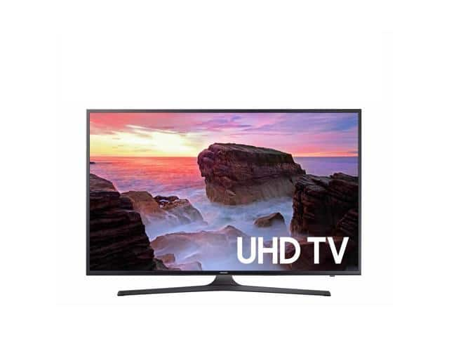 "Samsung UN43MU630DFXZA 4K 43"" LED TV, Black REFURBISHED $349.99"