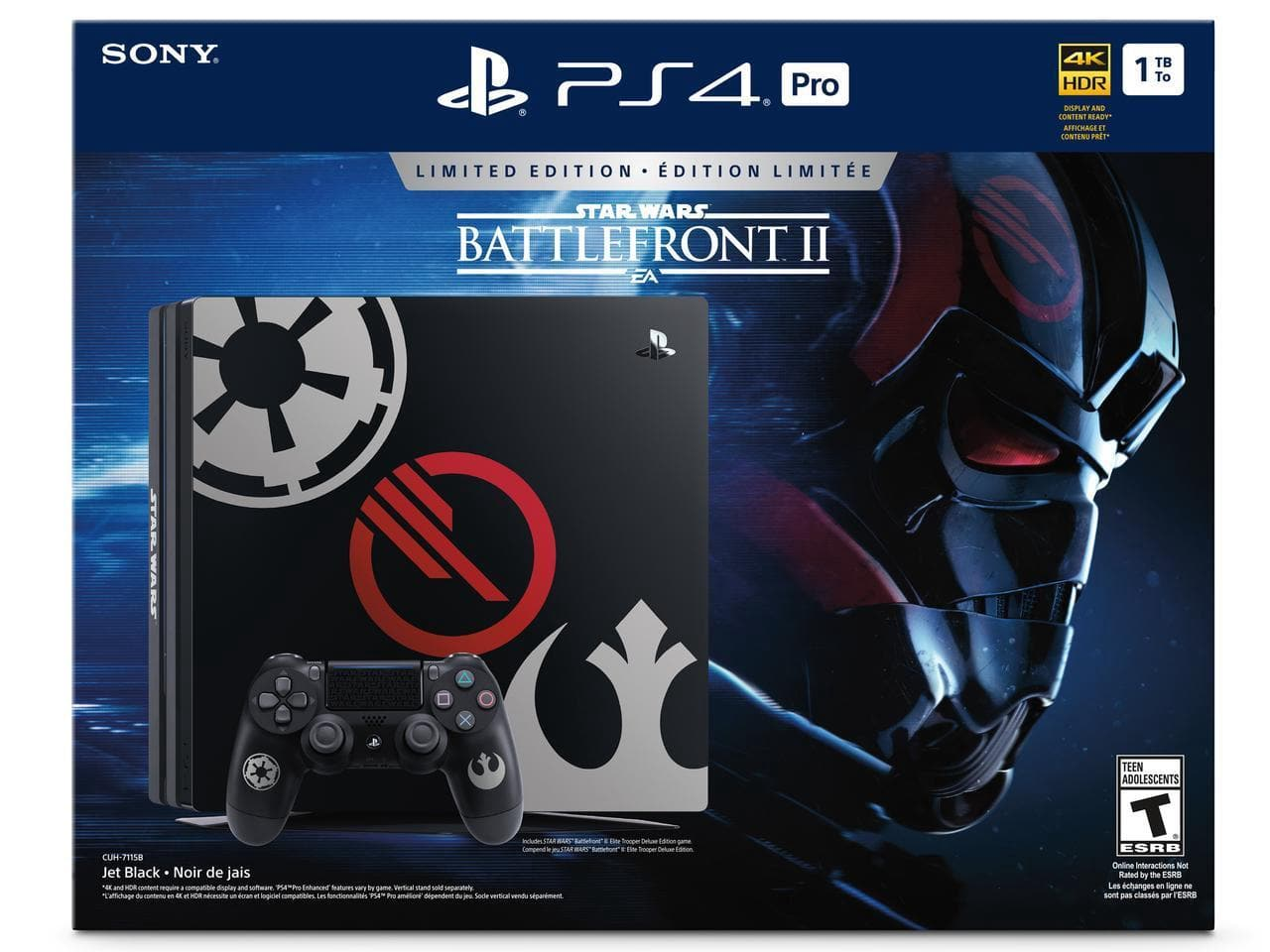 PlayStation 4 Pro 1TB Limited Edition - Star Wars Battlefront II Bun $699.98