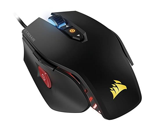 CORSAIR M65 Pro RGB - FPS Gaming Mouse - 12,000 DPI Optical Sensor - Adjustable DPI Sniper Button - Tunable Weights - White [White, Gaming Mouse] $49.98