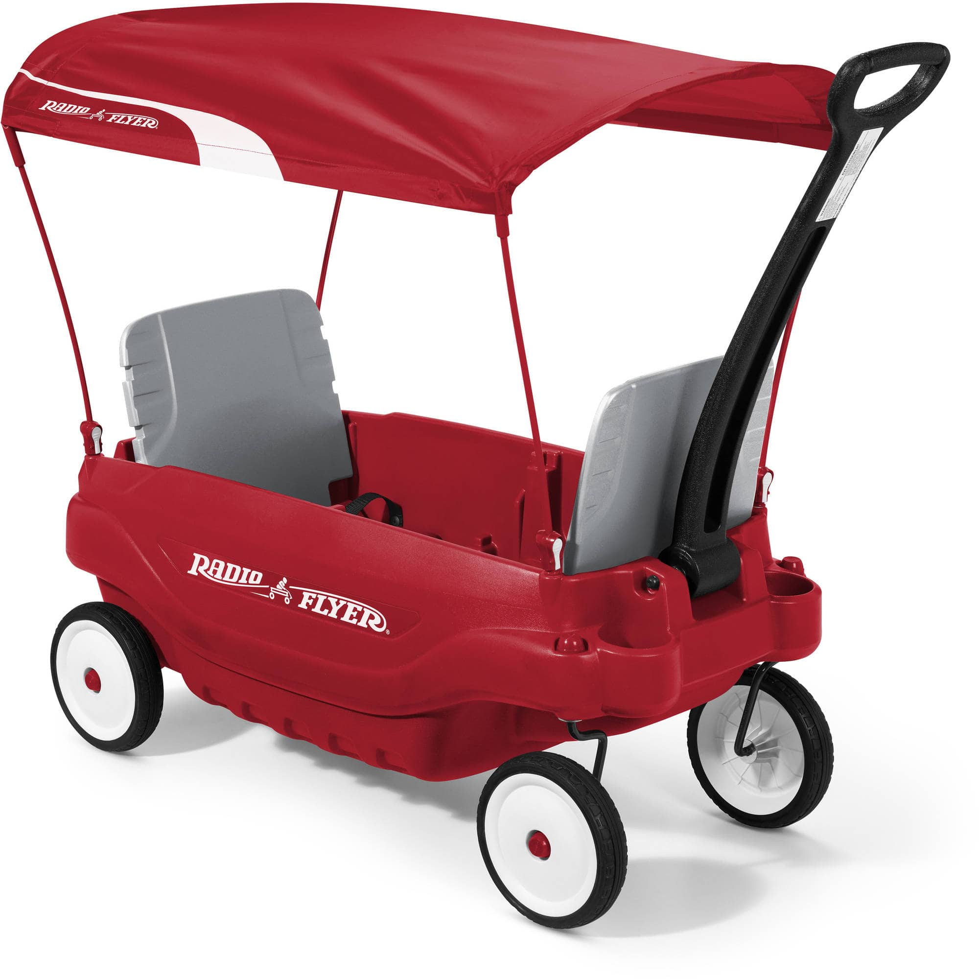 Radio Flyer Deluxe Family Wagon With Canopy Folding Seats Red 99