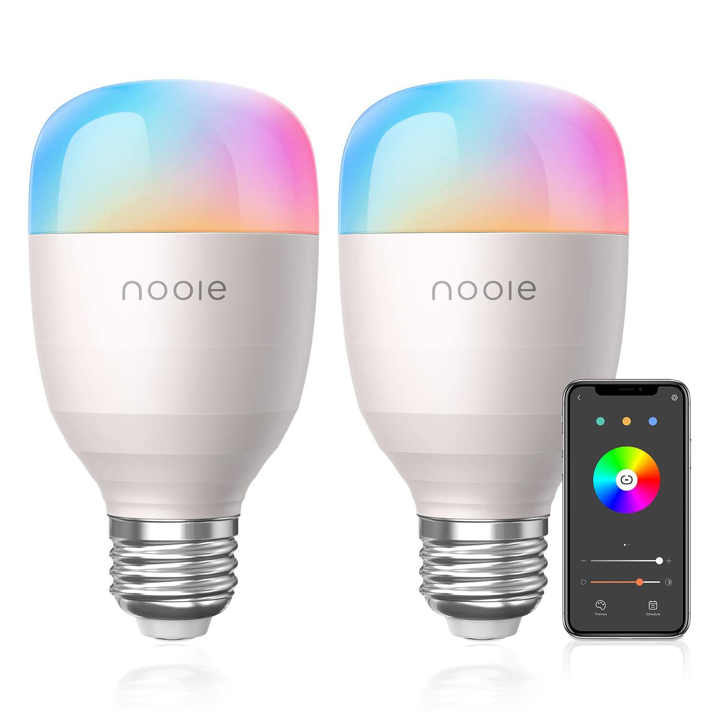 2-Pack Smart LED Bulbs WiFi E26 Multicolor -  Compatible with Alexa, Google Home $17.93