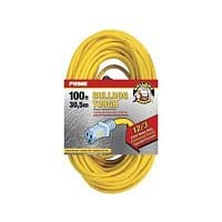 Costco Wholesale Deal: Costco Prime Lighted 100' 12/3 Extension Cord $39.97 B&M