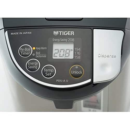 Tiger PDU-A40U-K Electric Water Boiler and Warmer, Stainless Black, 4.0-Liter [4.0-Liter] $99