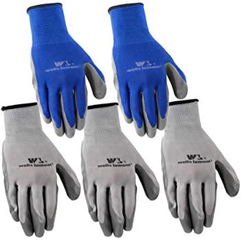 Wells Lamont Nitrile Work Gloves, 5 Pack, Large (580LA), Grey $4.96
