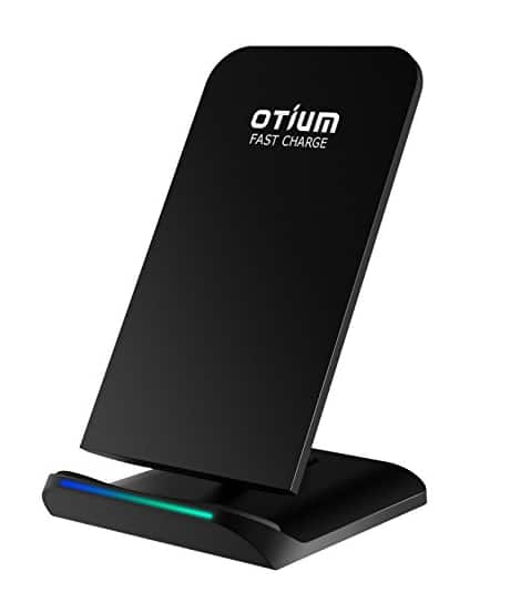 [Upgrade Version]Fast Wireless Charger, Wireless Charging Stand Dock with 2 Coils Cell QI Wireless Charger Pad for Samsung Galaxy S8 Plus S8+ S8 S7 S7 Edge S6 Edge Note 5 - $12.85