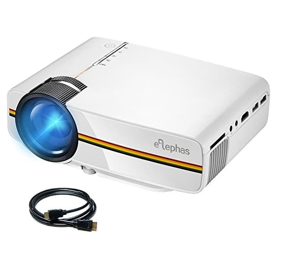 ELEPHAS LED Movie Projector, Support 1080P 150'' Portable Mini Projector Ideal for Home Theater Cinema Video Entertainment Games Party - $55.24