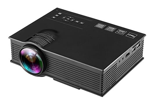 1200 Lumens 800 480 Led Projector, Multimedia Portable Mini Lcd Projection Home Theater Cinema Support Hd 1080P Game video, For PC Laptop Iphone Galaxy Mac. - $47.52