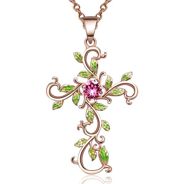 "Angelady""God We Trust""Cross Pendant Necklace Jewelry Gift for Women,Crystal from Swarovski - $14.99 @ Amazon"
