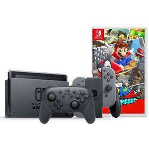 Nintendo Switch Console + Pro Controller + Super Mario Odyssey $399.99