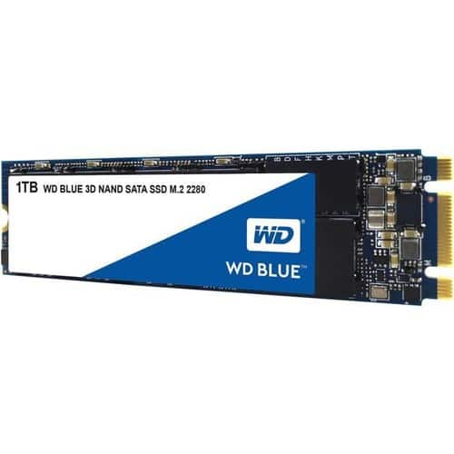 WD Blue 3D NAND 1TB PC SSD - SATA III 6 Gb/s M.2 2280 Solid State Drive - WDS100T2B0B $99.99