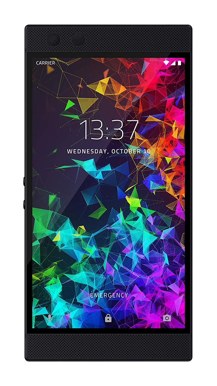 Razer Phone 2 (New): Unlocked Gaming Smartphone – 120Hz QHD Display – Snapdragon 845 – Wireless Charging – Chroma – 8GB RAM - 64GB - Mirror Black Finish $373.48