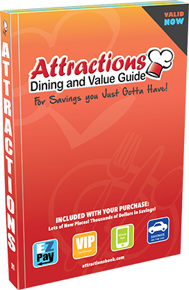 Attractions Dining & Value Guide Coupon Book - $10 Off w/ Promo Code