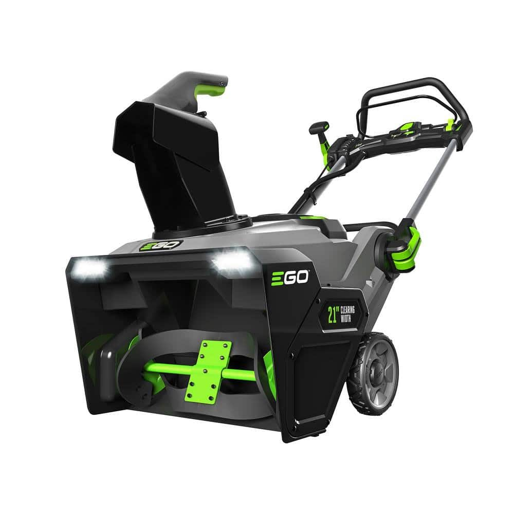 EGO 21 in. 56-Volt Lithium-ion Single Stage Electric Snow Blower with (2) 5.0Ah Batteries and Charger Included - YMMV $228.95