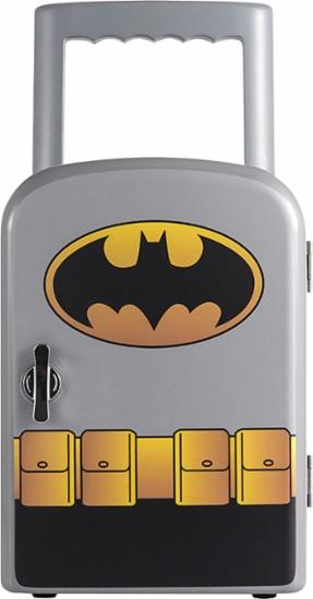 Batman - 0.1 cu. ft. Thermoelectric Mini Fridge Cooler - Gray for $19.99 @ bestbuy.com
