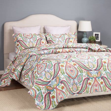 """""""Yule Tide"""" Paisleys Quilts Reversible Bedspread Printed Bed Coverlet Set Full/Queen/Twin for $14.99-$19.99 @Walmart.com"""