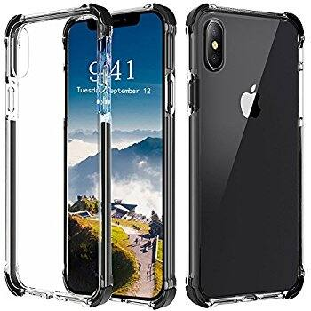 Comsoon iPhone X Case, Supports Wireless Charging Shock Absorbing TPU Bumper from $4.19 AC + FS w/ Prime