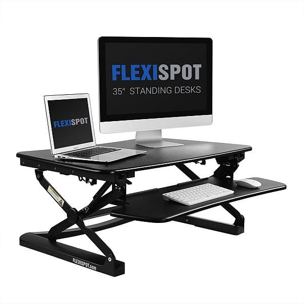 *Amazon Deal Of The Day* 35 Height Adjustable Stand Up Desk With Removable  Keyboard Tray For $244.99 FS W/Amazon Prime