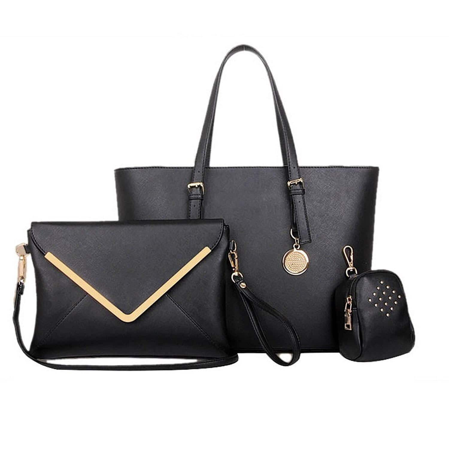 Fashion Road Luxury Womens 3 Pcs Satchel Hobo Tote Handbag Set for $22.19 @ Amazon.com
