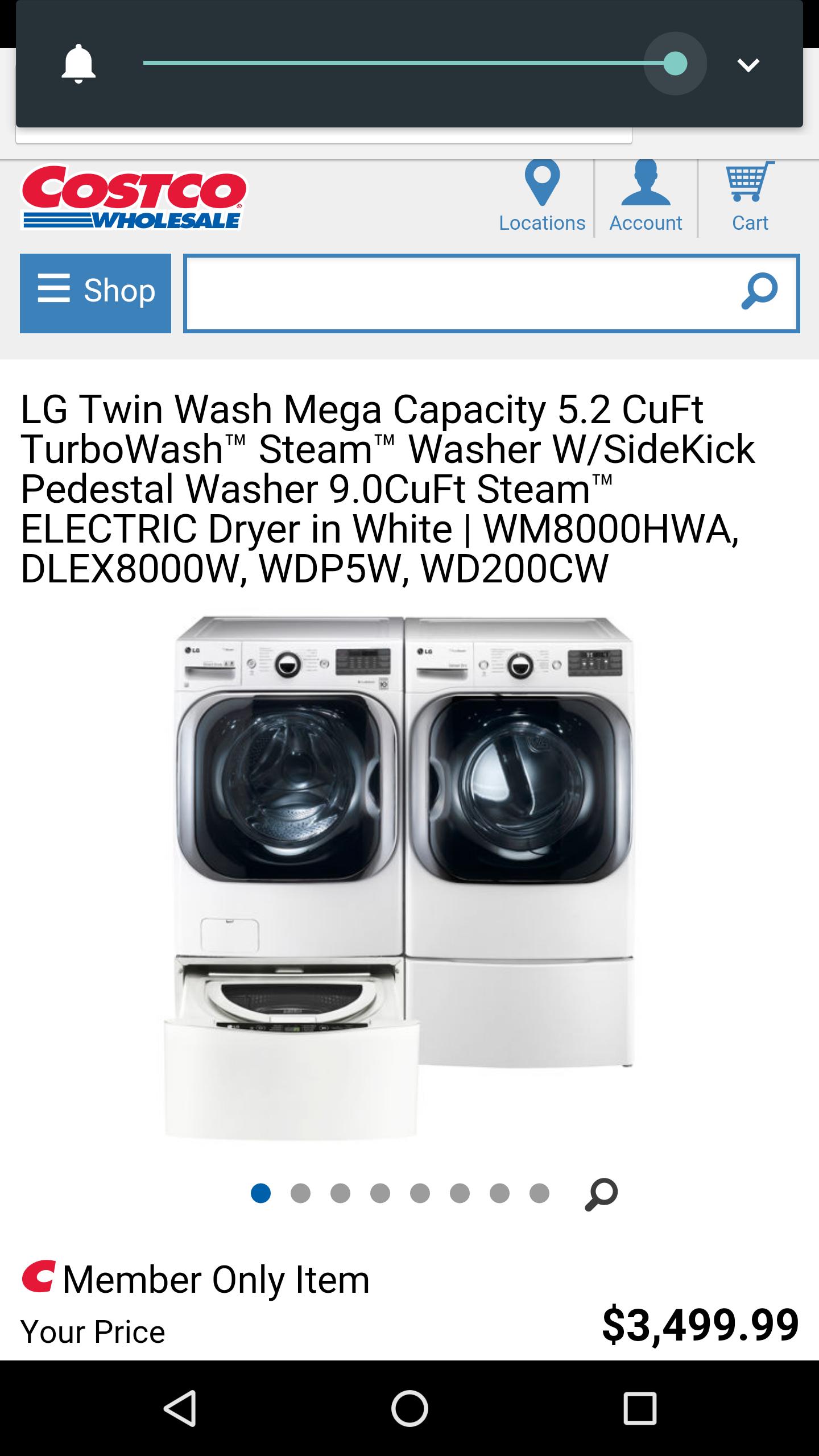 2400 Lg Twin Wash Mega Capacity 5 2 Cuft Turbowash Steam Washer W Sidekick Pedestal 9 0 Dryer Page Slickdeals